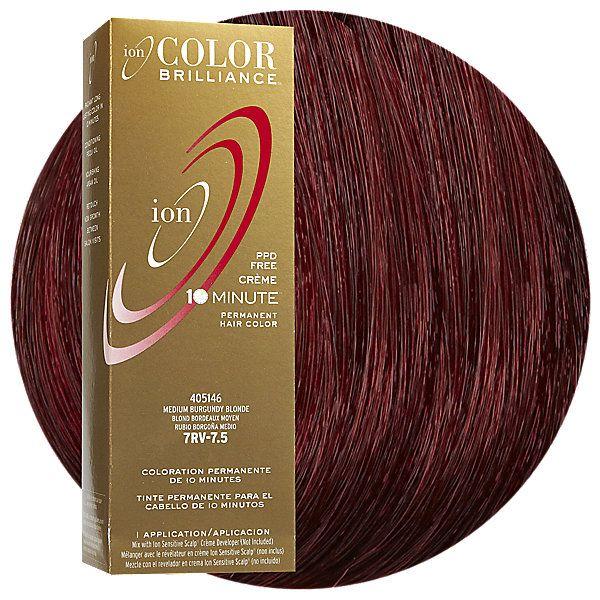 7rv Medium Burgundy Blonde Permanent Creme Hair Color Ion Color