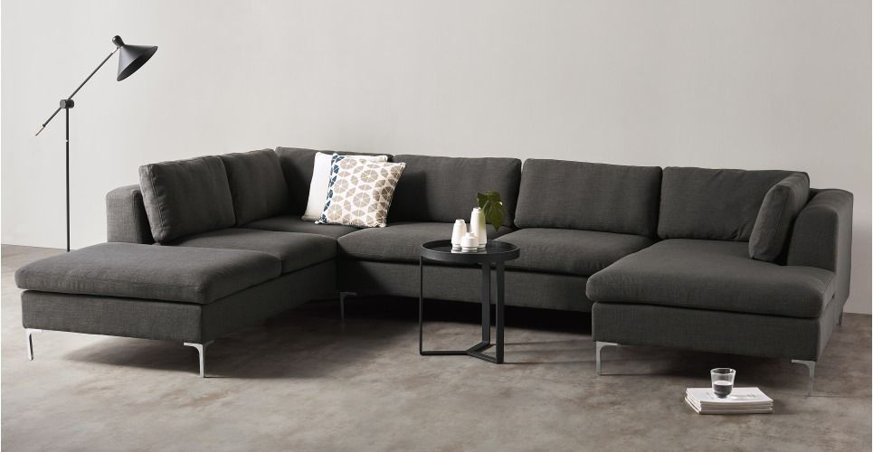 Monterosso Left Hand Facing Corner Sofa Oyster Grey Made Cornersofa