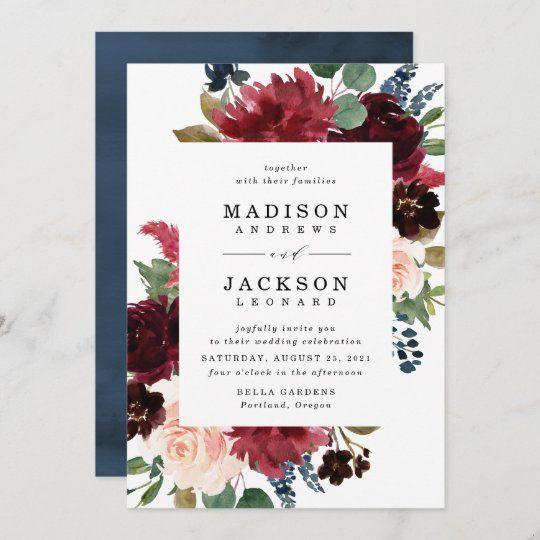 Watercolor Wedding Invitation Suite WTRTB Floral Wedding Invitation Set Summer Wedding Invitation Template Editable Printable Invite