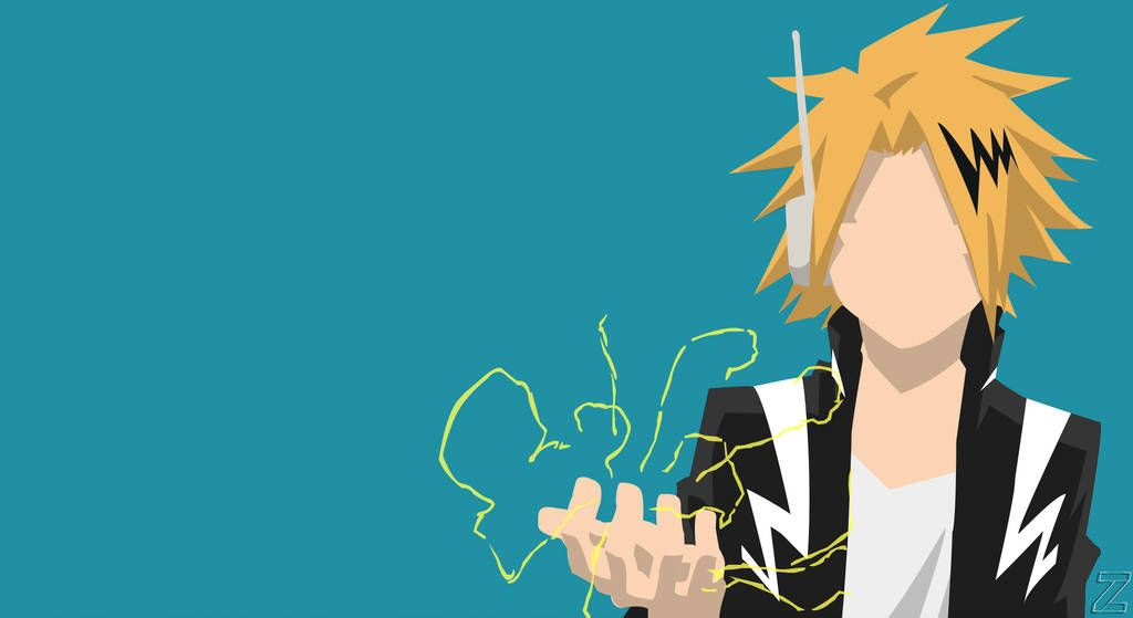Denki Kaminari Minimalist Hero Academia By Phantomkarma Anime Canvas Anime Wallpaper Cool Anime Wallpapers