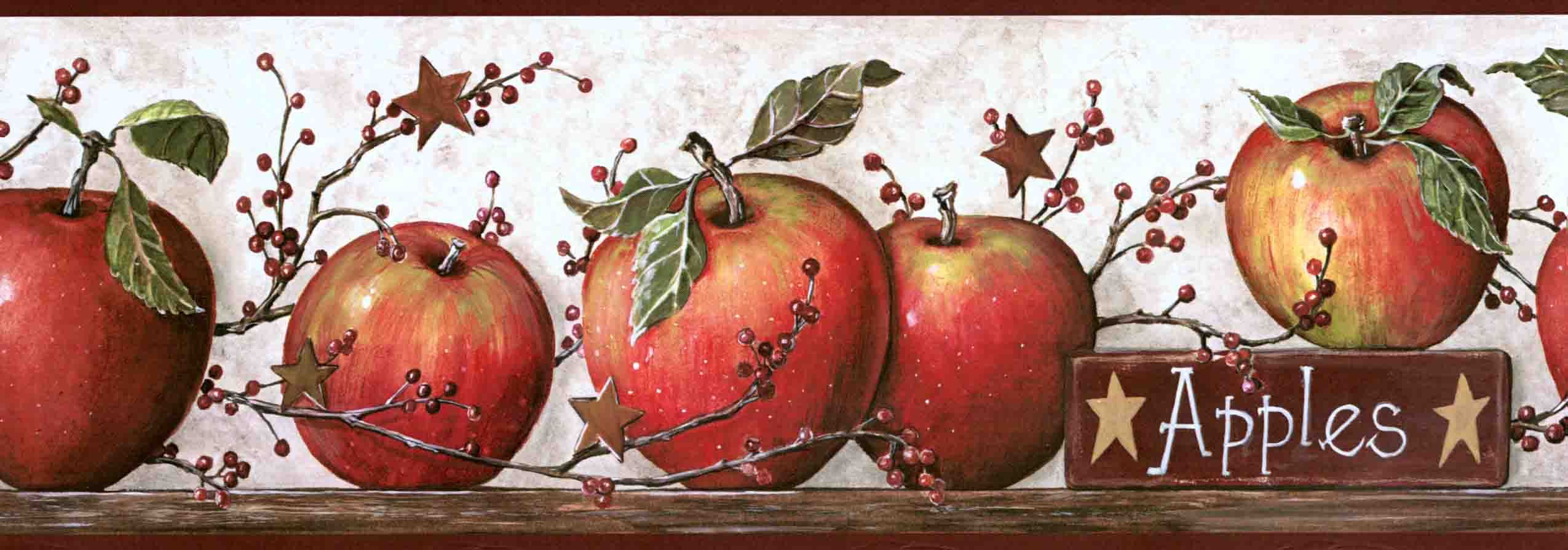 Yorks Country Apple With Pip Berries Wall Paper Border Cb5558bdb Wallpaper Border Candles Wallpaper Butterfly Wall Decor