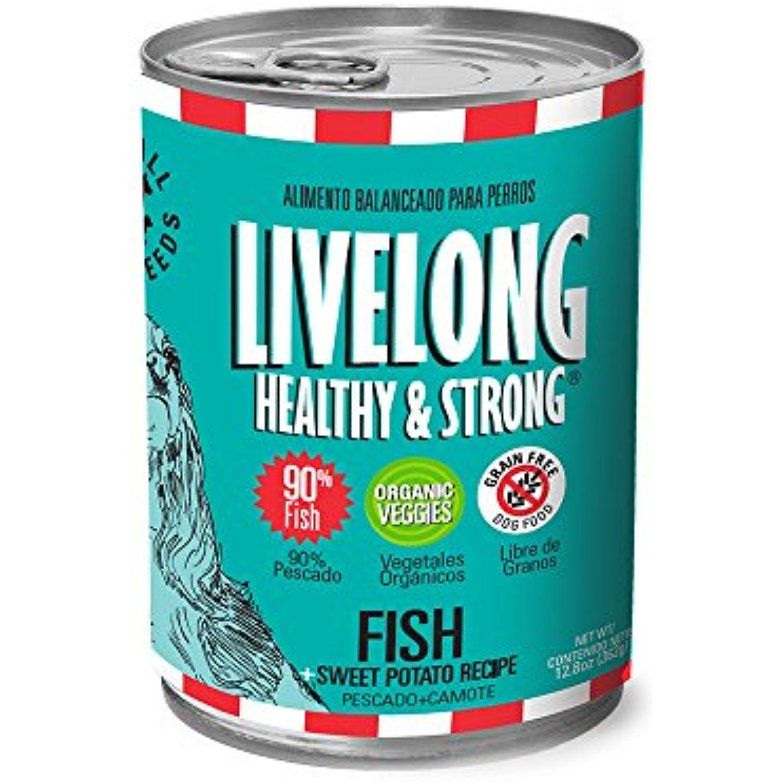 Livelong healthy strong fish sweet potato dog food 13oz12