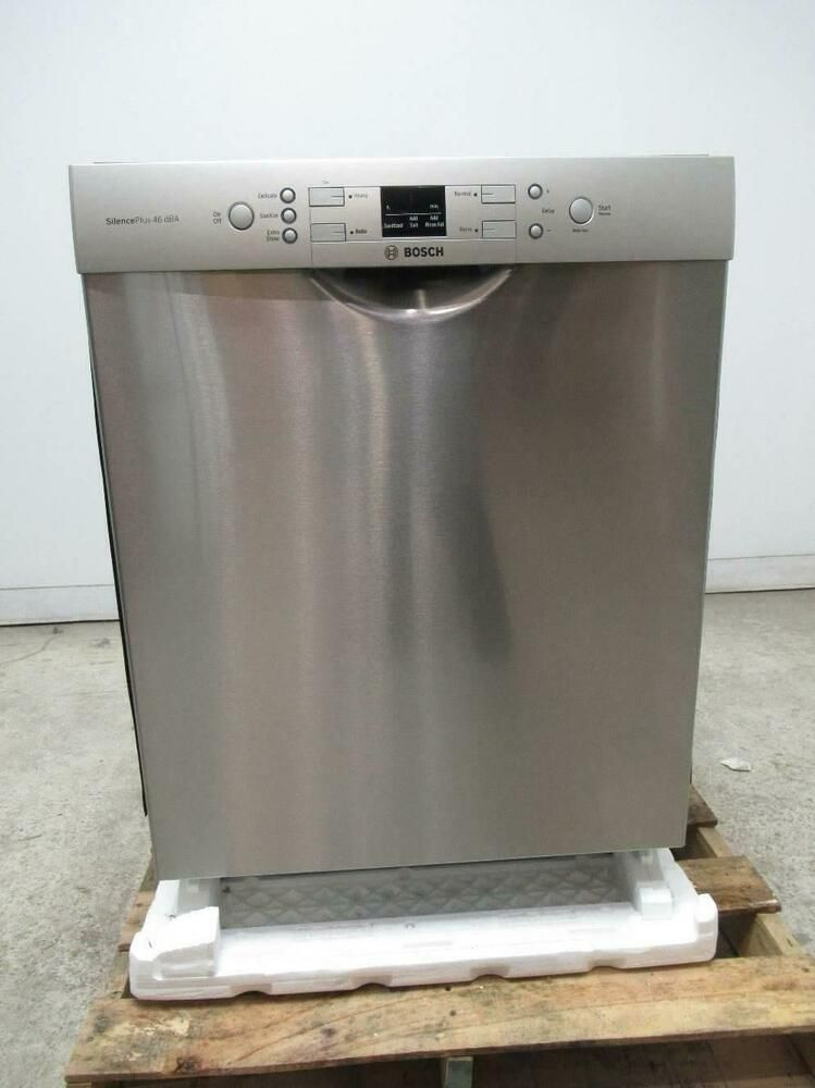 Ebay Sponsored Bosch 300 Series 24 46dba 4 Wash Cycle Full Front Console Dishwasher Sge53u55uc Built In Dishwasher Bosch Dishwasher Installation