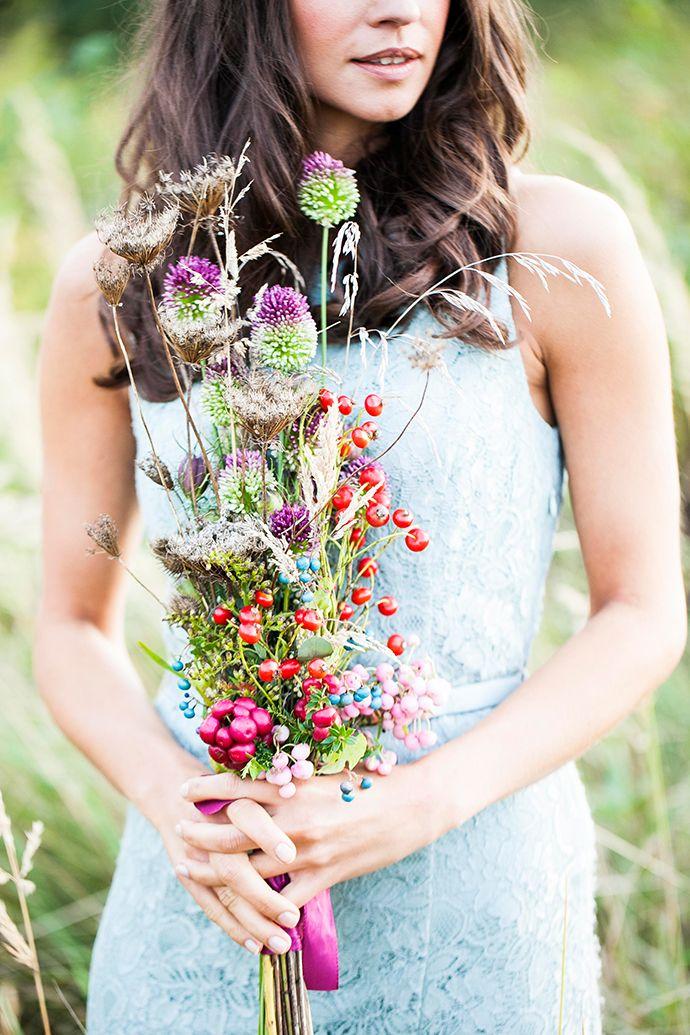 Bohemian Blumenmeer Lila Hochzeitsblumen Lila Und Hochzeitsblumen