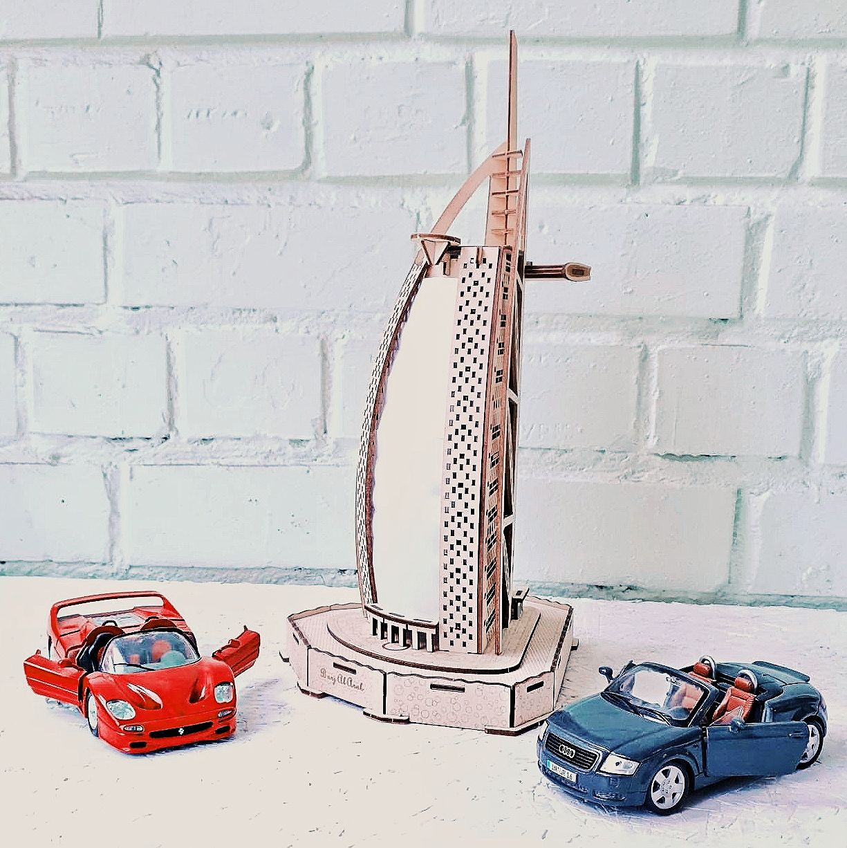 Wooden 3d Puzzle Build Your Own Burj Al Arab Craft Kit For Adults Architecture Constructor Unique Items Products Wooden Puzzles Craft Kits