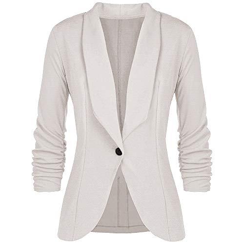 Womens Casual 3//4 Sleeve Open Front Work Office Blazer Outwear Jacket Cardigan