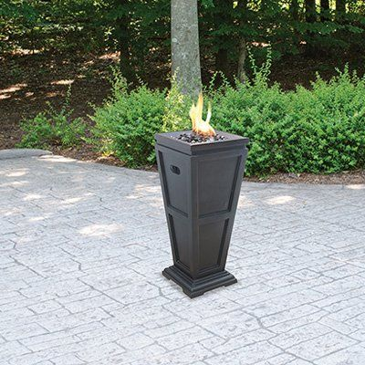 uniflame fire pit. Bring The Warmth And Ambience Of A Fireplace To Your Patio, Deck Or Backyard With This UniFlame Fire Pit, By Blue Rhino. Its Popular Oil Rubbed Bronze Uniflame Pit T