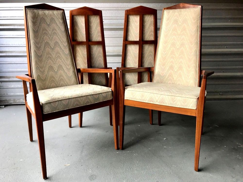 Mid Century Modern Set Of Four Foster Mcdavid High Back Dining