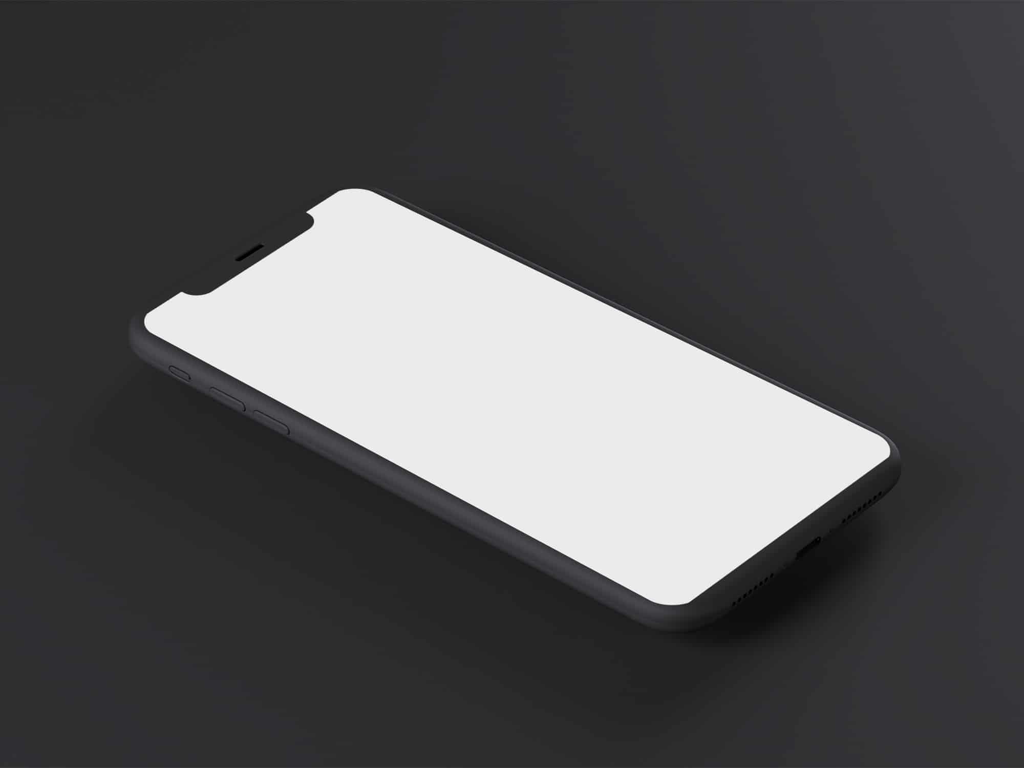 Minimal Dark Iphone X Mockup The Mockup Club Mockup Iphone Minimalism