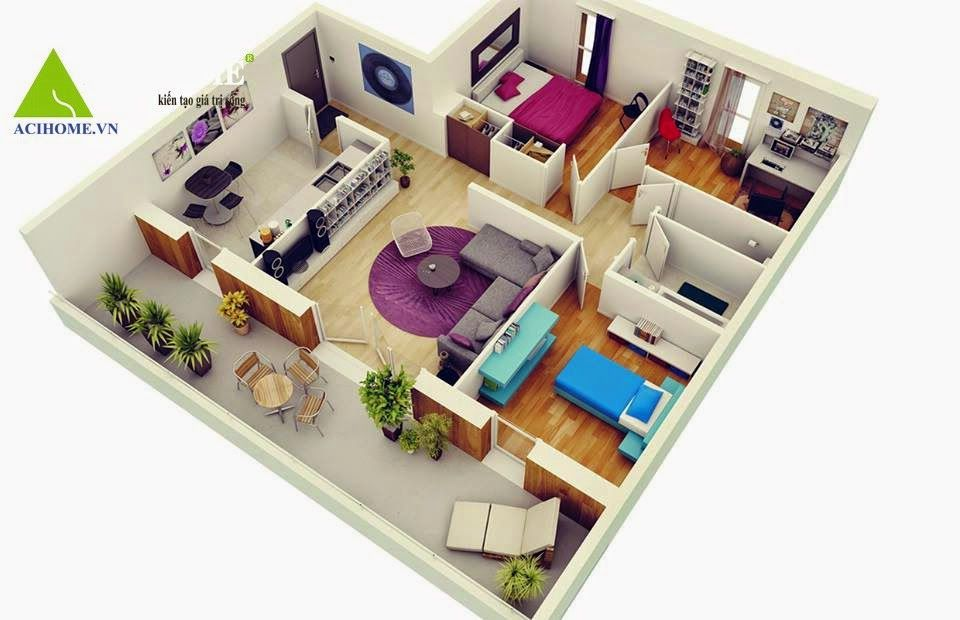 We feature three bedroom home plans in this massive post also includes links to and studio apartment floor ng nice rh pinterest