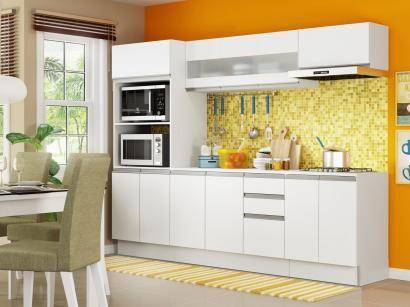 Cozinha Compacta Madesa Smart G200730909 Com Balcao 12 Portas 2