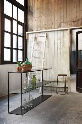 Zeus Slim Irony Shelf Black Made In Design Uk My Furniture