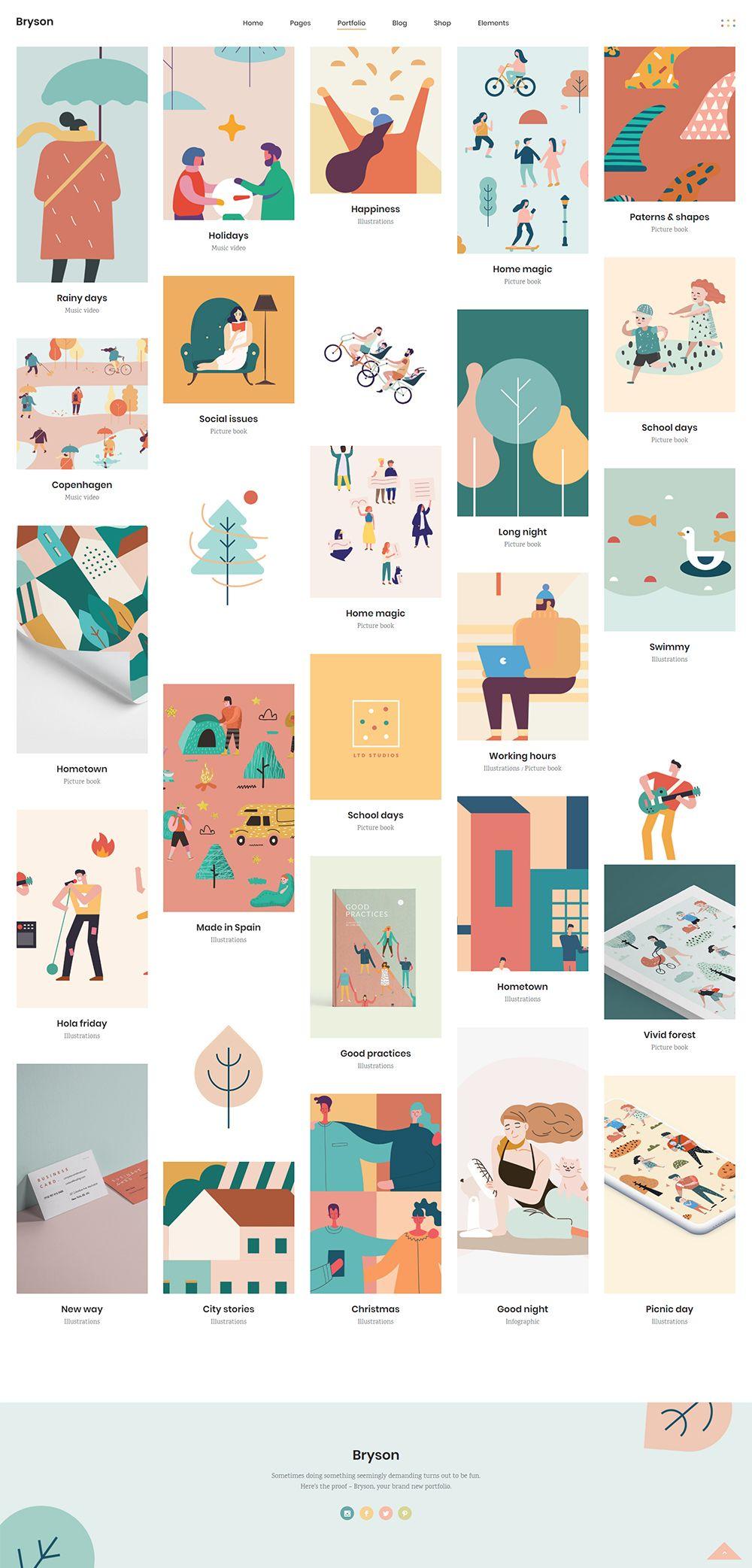 Bryson Portfolio Pinterest List Type Portfolio Design Layout Portfolio Design Magazine Website Design