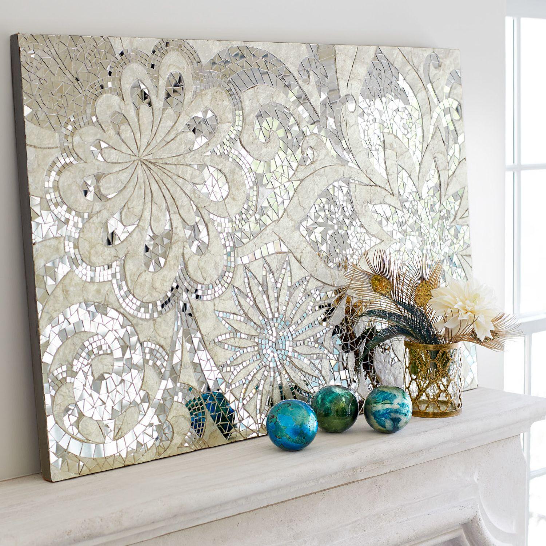 Floral Capiz Mosaic Wall Panel Mosaic Wall Art Mosaic Wall Mosaic