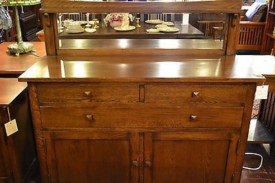 Mission Buffet Cabinet With Mirror Dark Sideboard