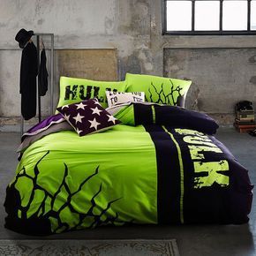 Incredible Hulk Bedding Set Queen Size For Teen Boys Bedroom Decor . Extra Fast Free Shipping for all Worldwide Orders. Made From 100% Cotton Soft Material.