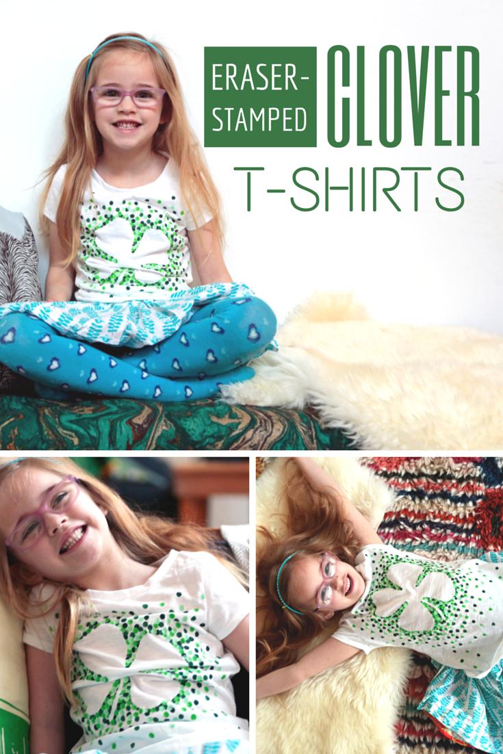 St Patrick's Day Craft: DIY Clover-Stamped T-Shirts | HGTV Design Blog – Design Happens