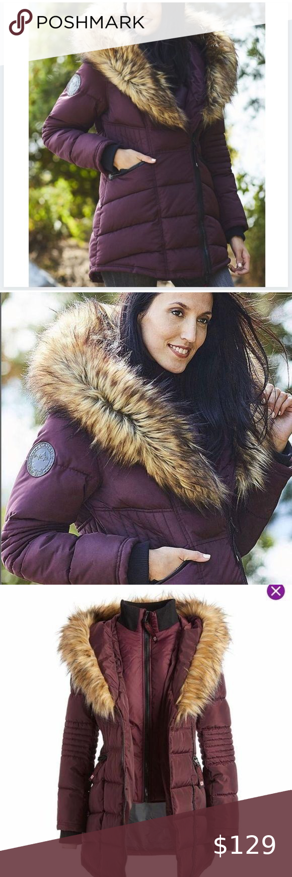Nwt Canada Weather Faux Fur Lined Hood Puffer Coat Puffer Coat Fashion Clothes Design [ 1740 x 580 Pixel ]
