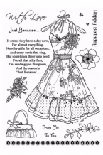 A6 Clearly Stamps Set - A Pretty Dress