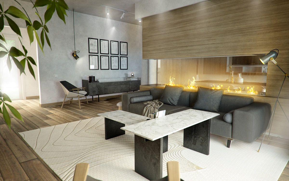 Innenarchitektur wohnzimmer grundrisse  moderne wohnräume die das herzstück ihres hauses bilden