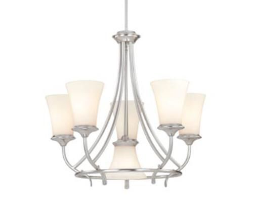 Caspian 6 light 25 satin nickel chandelier at menards
