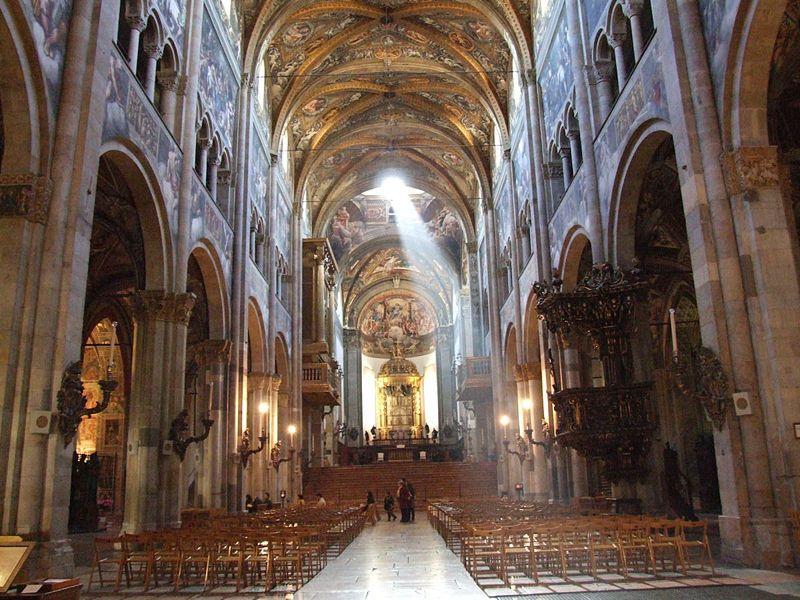 Parma Duomo interno.