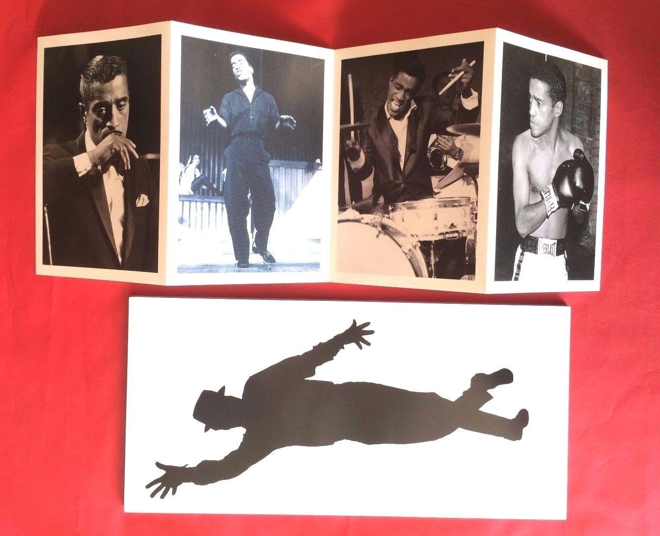 Sammy Davis Jr. Book + 4 Black & White Postcards Warner Brothers Rhino  Records