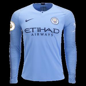 Nike Kevin De Bruyne Manchester City Long Sleeve Home Jersey 18 19 ... 4b55b7b90
