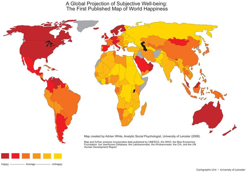Happiness Rankings by Country Miscellany