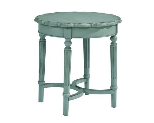 French Inspired Short Pie Crust Table French Blue We Ship Magnolia Homes Wooden Side Table