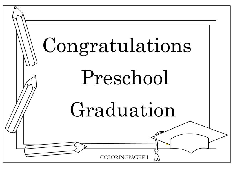 Preschool Graduation Certificate Template | Coloring Page