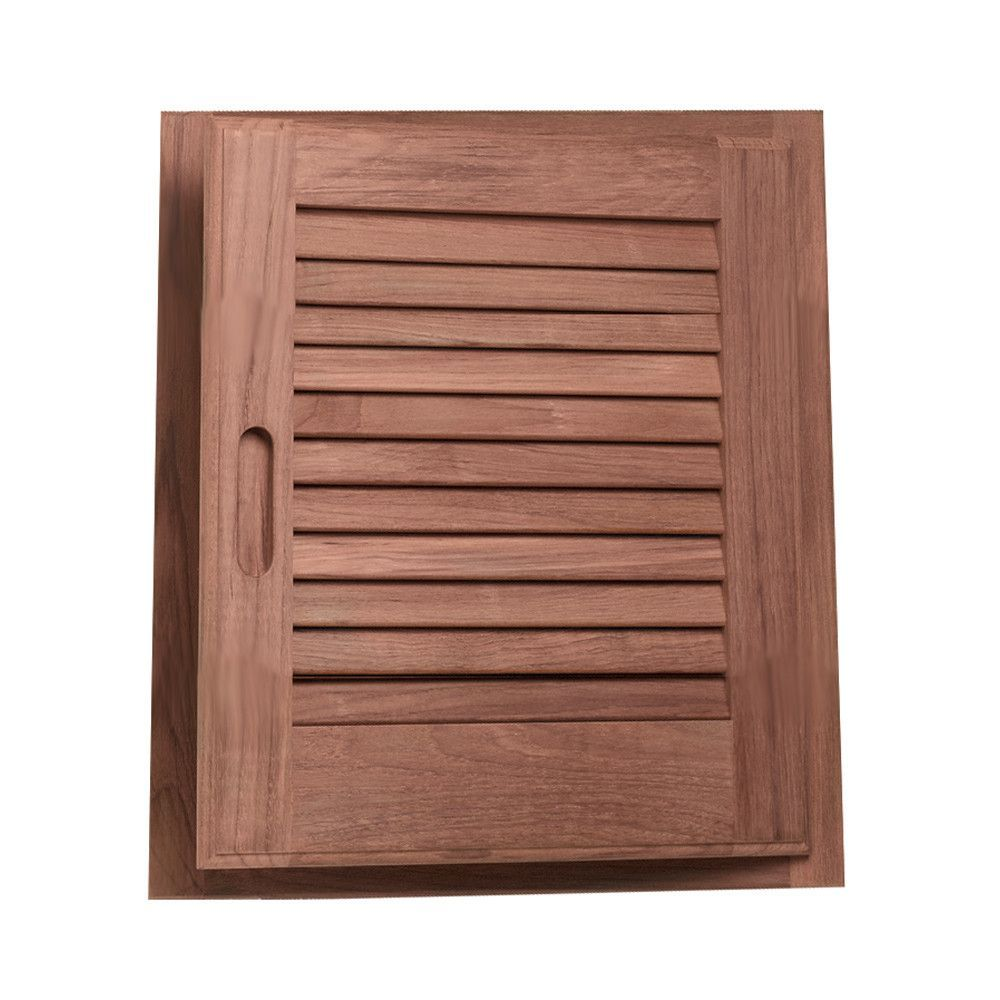 "Whitecap Teak Louvered Door & Frame - Right Hand - 15"" x 15"""