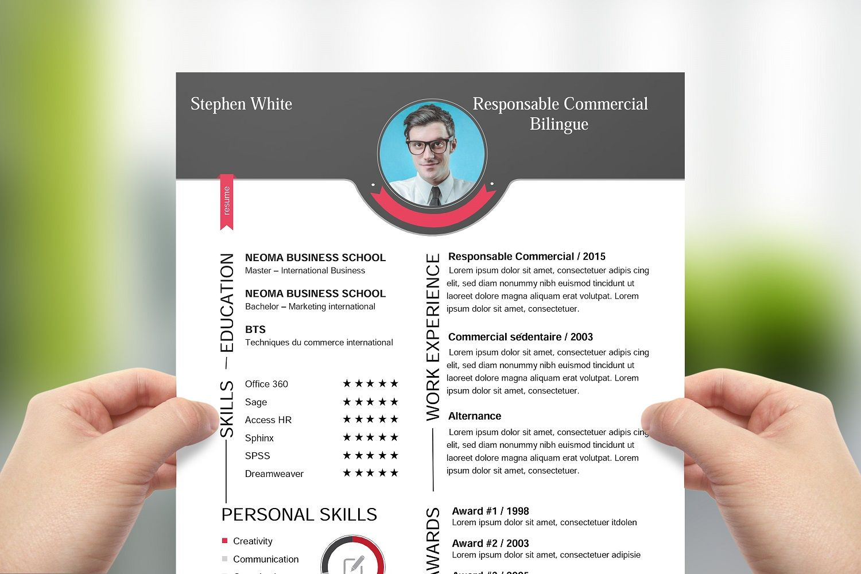Cv Responsable Commercial Bilingue Upcvup Cv Moderne Commercial
