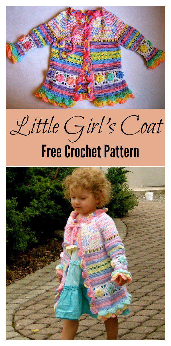 Little Girls Colorful Summer Coat Free Crochet Pattern Summer