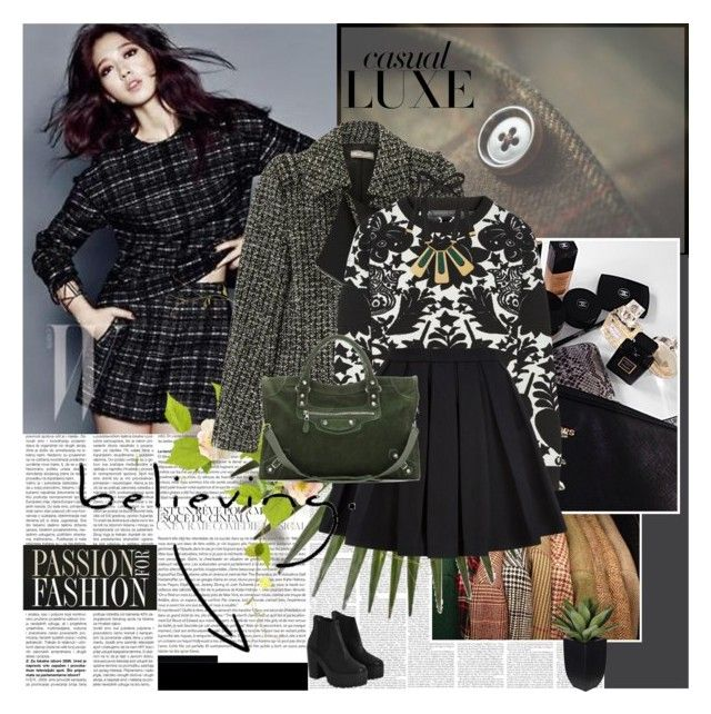 """Tweed Season"" by rainie-minnie ❤ liked on Polyvore featuring Shin Choi, Bouchra Jarrar, Alexander McQueen, Balmain, Marni, Balenciaga and River Island"