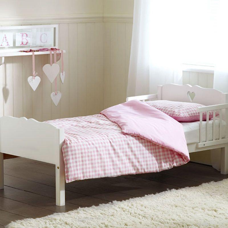 Saplings Heart Junior Bed White