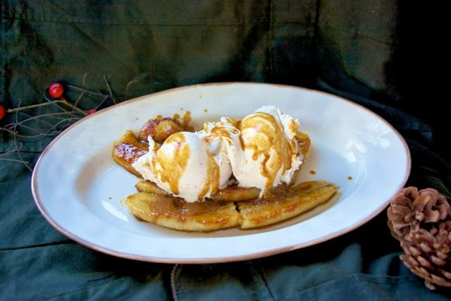 Up in Flames Drunken Bananas with Spiced Ice Cream from Curtis Stone & Netflixs | Simple Living and Eating: Up in Flames Drunken Bananas wit...