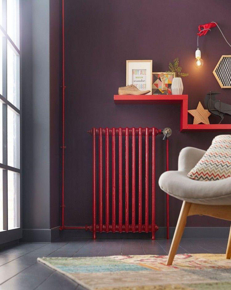 Heizk rper umgestalten rot streichen akzent innendesign interior colors design wohnen - Hellrosa wandfarbe ...
