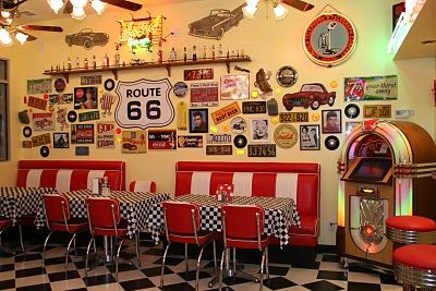 Anne Fannie S Green Acres Pink Saturday In Our 50s Diner Diner Decor 50s Diner 50s Diner Kitchen
