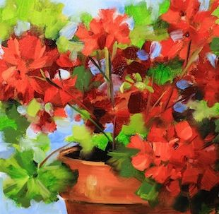 """Once Upon a Time Geraniums"" - by Nancy Medina"