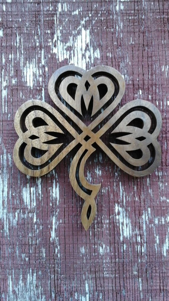 Wooden Celtic Clover Knot By Mcqueenwoodcrafts On Etsy