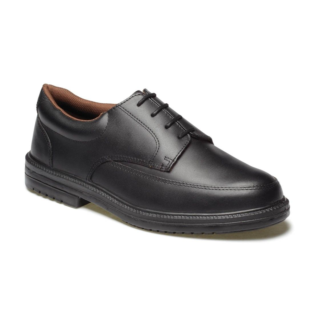 Mens Dickies Executive Safety Shoe Leather Steel Toe Black