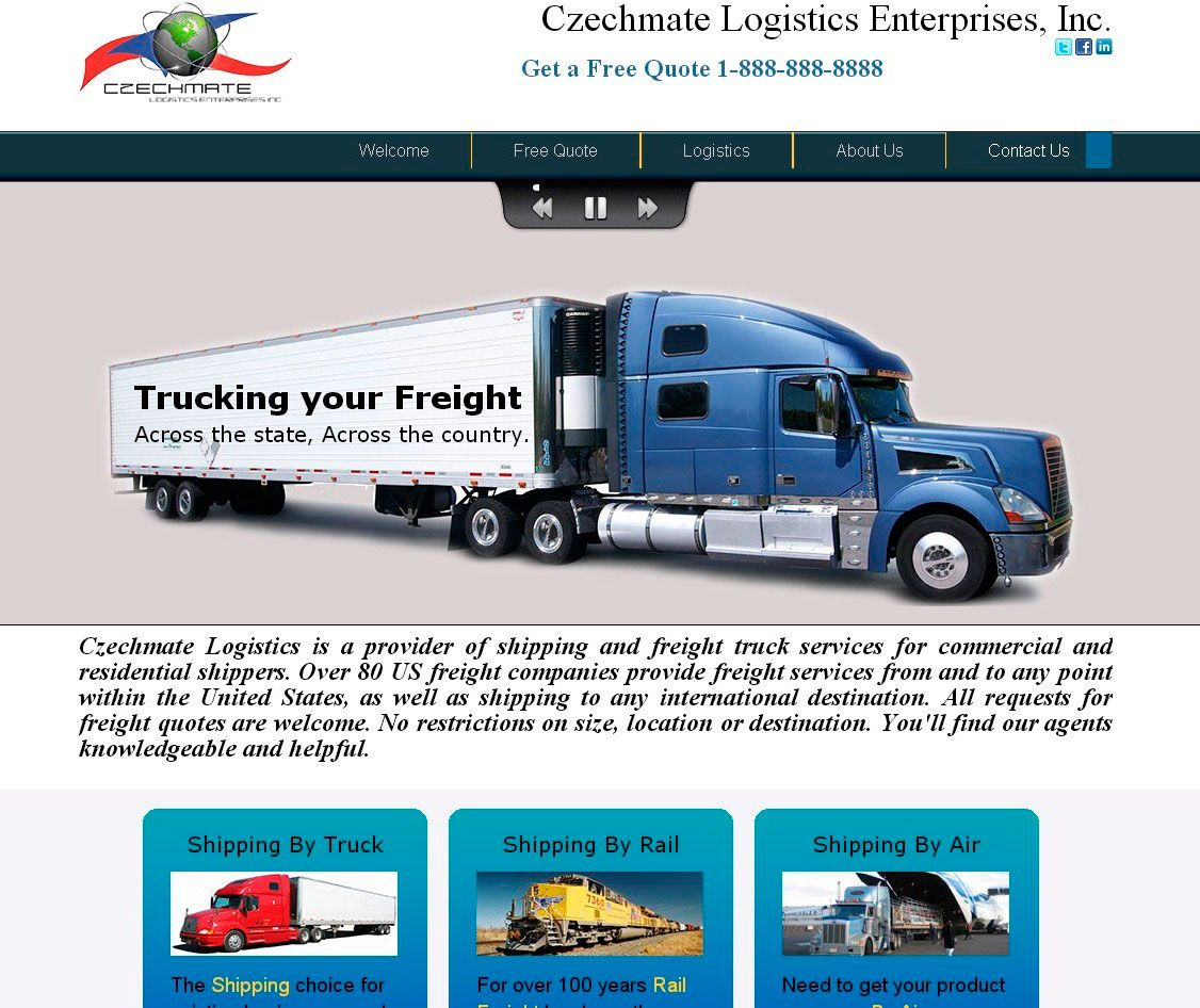 Freight Quote Com 3 Shades Of Blue Web Design Shadesofblueweb On Pinterest