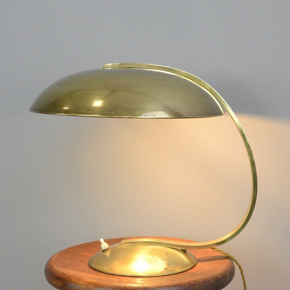 For Sale Bauhaus Brass Table Lamp By Hillebrand Circa 1930s In 2020 Brass Table Lamps Table Lamp Brass Table