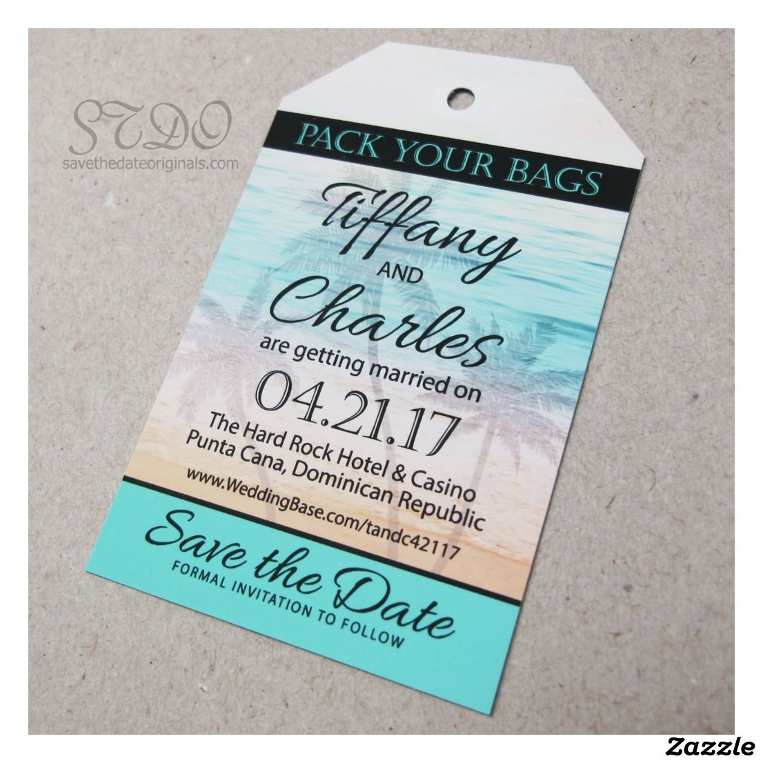 Luggage Tag Shaped Save The Date Magnet Envelope Zazzle Com Destination Wedding Save The Dates Wedding Saving Save The Date