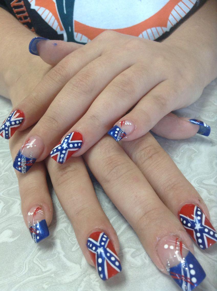 Rebel flag nails - Rebel Flag Nails Nails Pinterest Rebel Flag Nails, Flag