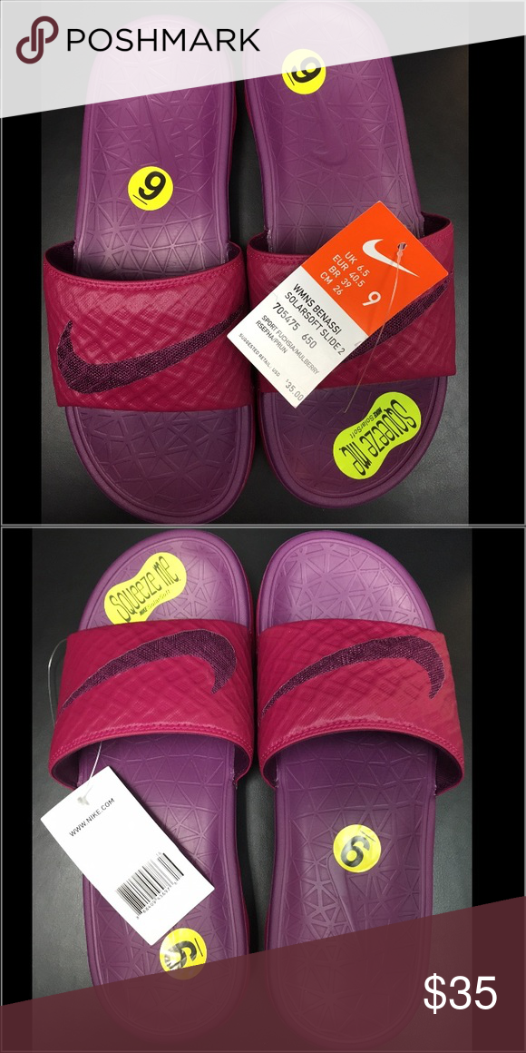 72121a698 Nike Women s Benassi Solarsoft Slide Fuchsia Nike Women s Benassi Solarsoft  Slide Fuchsia. Extremely soft and great for the summer or for anytime of  year!