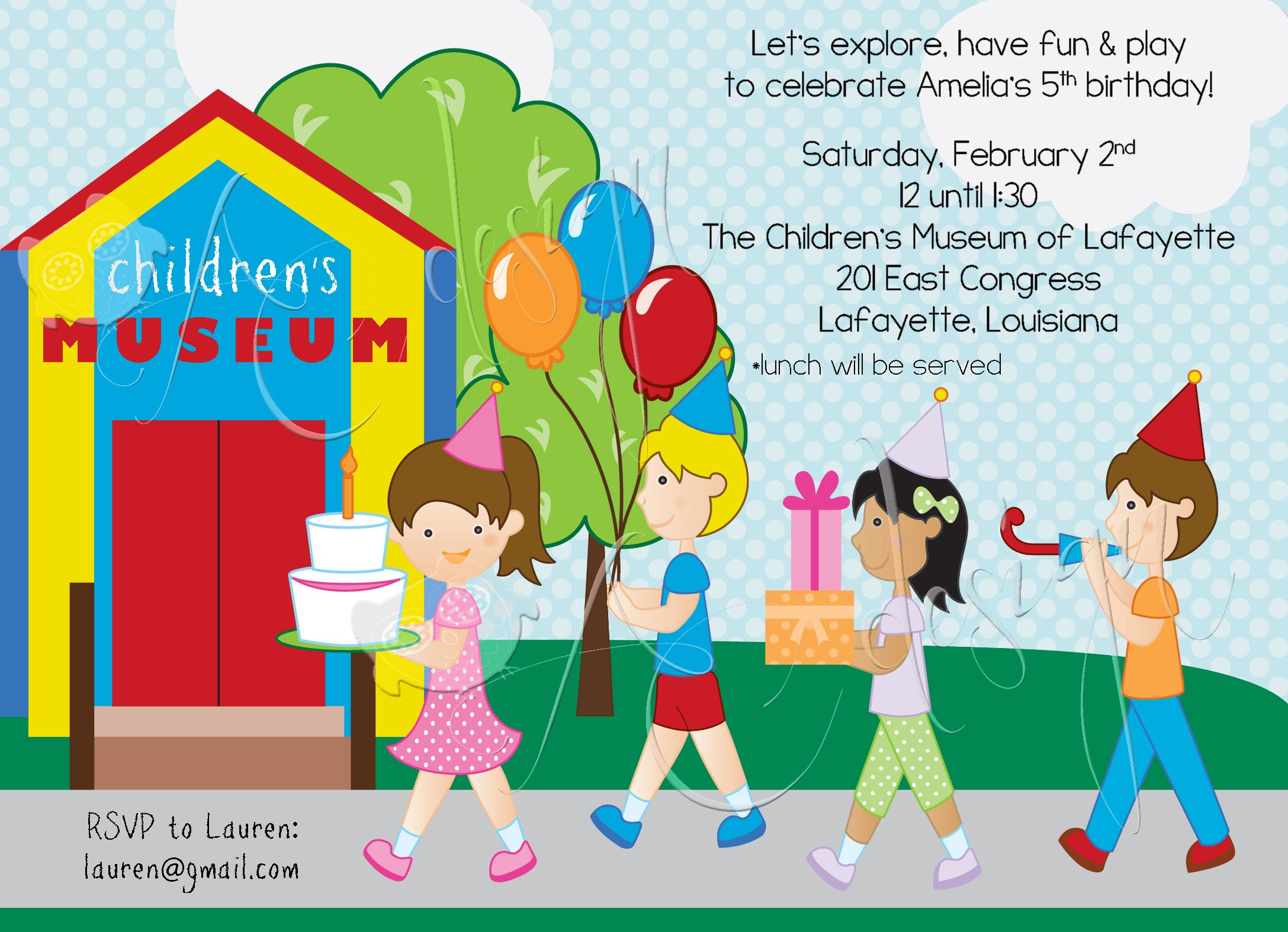 Children\'s Museum Birthday Party Invitation Design | party ideas ...