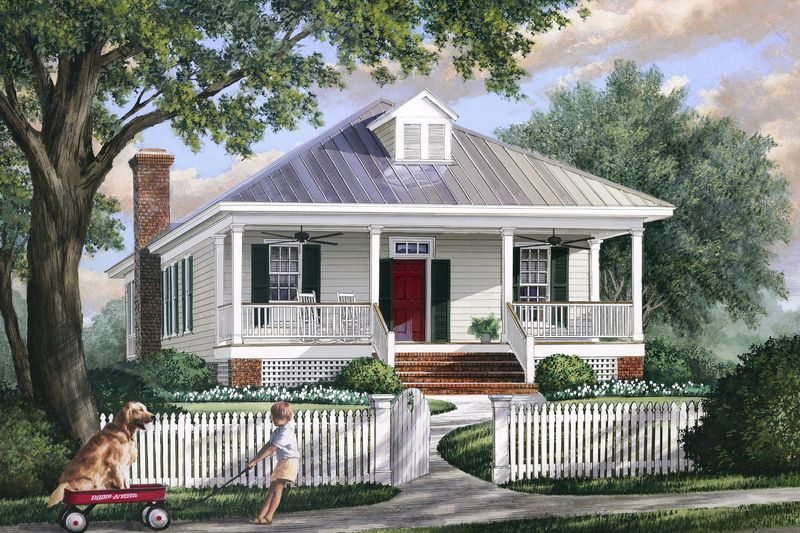 southern style house plan - 3 beds 2 baths 1643 sq/ft plan #137
