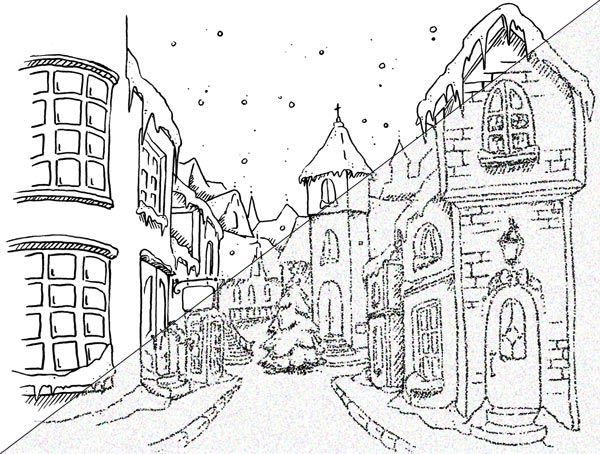 Christmas Town Digi Christmas Coloring Sheets Halloween Coloring Pages Printable Christmas Coloring Pages